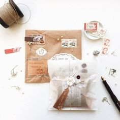 """VELLUM BAG PACKAGE - Serena Sun (Sun + V) (@sjwsun) on Instagram: """"Mail for a sweet lady was well received last week * • • • • * #happymail #airmail #文房具 #paper…"""" Letters Ideas, Diy Letters, Cute Gifts, Diy Gifts, Snail Mail Pen Pals, Pen Pal Letters, Diy And Crafts, Paper Crafts, Simple Doodles"""