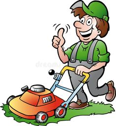 Illustration about Hand-drawn Vector illustration of an happy Gardener with his lawnmower. Illustration of move, care, machine - 37386518 Teeth Whitening Diy, Teeth Whitening System, Teething Chart, Garden Pictures, Garden Images, Man Images, Cartoon Images, Photo Illustration, Digimon