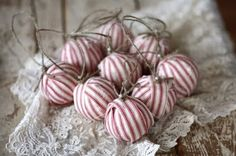 new life for old ornaments, wrap with ribbon!