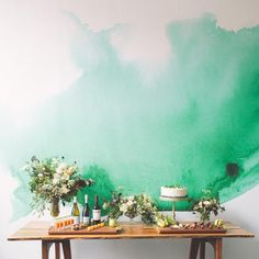 Watercolor Mural Wal