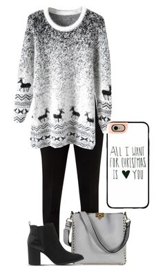 Taurus-Christmas Edition by mahone996 on Polyvore featuring polyvore moda style Ted Baker Office Valentino Casetify fashion clothing