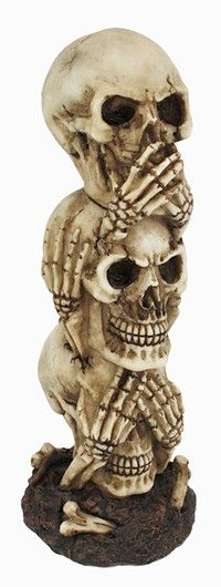 See No Evil, Hear No Evil, Speak No Evil Stacked Skulls
