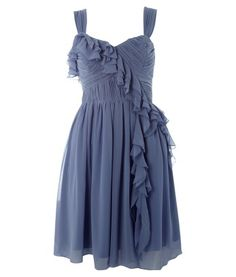 Frilled Front Dress. Love the draping...possibly in a pretty pastel color.... :)