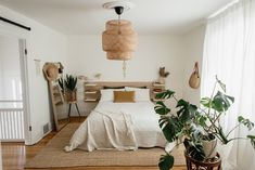 Home Decor Cozy Neutral Bedroom — Miss Jess Craven Best Plants For Bedroom, Bedroom Plants, Ikea Headboard, Small Office Desk, Home Trends, Spare Room, Your Space, Home Goods, Cozy