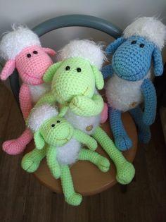 Ovečky Crochet Dolls, Tweety, Dinosaur Stuffed Animal, Japanese, Toys, Handmade, Animals, Art, Amigurumi