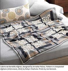 Ravelry: Cabine de Dentelle Afghan pattern by Annette Petavy
