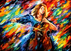 Leonid Afremov.  The passion for music jumps right off the canvas.