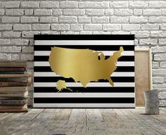 USA MAP DECOR Usa Map Wall ArtMap DecorMap ArtMap