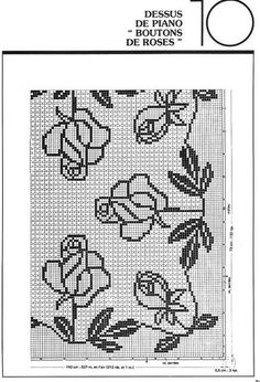 great chart for cross stitch or filet crochet
