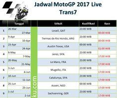 Jadwal MotoGP 2017 Trans7