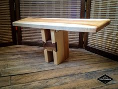 Pi Meditation stool wood bench collapsable portable seat - Maple and Black Walnut - by Toutanbwa
