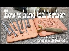 Leather tooling basics tutorial for beginners with Craftools select leathercraft tools. Learn to tool and carve leather with this video tutorial here on YouT. Tandy Leather, Leather Art, Sewing Leather, Leather Jewelry, Tooled Leather, Leather Design, Stitching Leather, Custom Leather, Diy Leather Projects