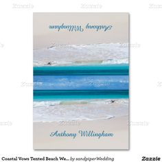 Coastal Vows Tented Beach Wedding Place Cards Table Cards