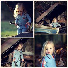 Toddler Mechanic photo shoot - 2nd birthday