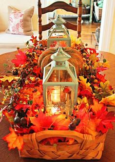 use basket for decor ...