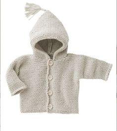 Baby Cardigan tricoté à la main noir 0-3 mois Manches longues NEUF