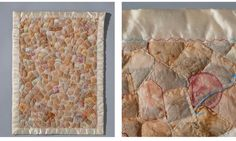 """Artist Ruth Tabancay has played up the comforting nature of tea through a series of quilts made out of tea bags. Like quilts, she says, """"I felt that tea bags carried with them connotations of warmth and intimacy."""""""