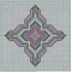 4-Way Bargello Florentine Needlecase Pattern...