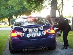 Custom made DIY Wedding garland, decoration, Birthday Banner, Mr & Mrs, Just Married Car Banner (B)