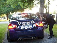 Custom made DIY Wedding garland, decoration, Birthday Banner, Mr & Mrs, Just Married Car Banner (B)