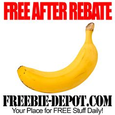 FREE AFTER REBATE - Banana - FREE Fresh Produce with Digital Rebate Coupon Offer from Checkout51 #freebate