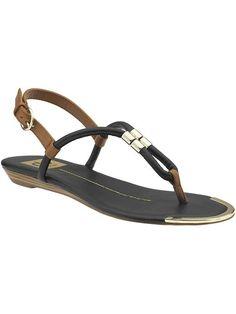low profile.  low heel sandals