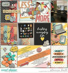 Less More - Sweet Shoppe Gallery using #socialaddiction by Studio Basic Designs and Just Jaimee