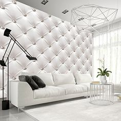 Papier peint moderne White Elegance - topy to - Wallpapers Designs Deco Tv, 3d Wallpaper For Walls, Photo Wallpaper, Feature Wallpaper, Wallpaper Patterns, White Elegance, Interior Decorating, Interior Design, Original Wallpaper