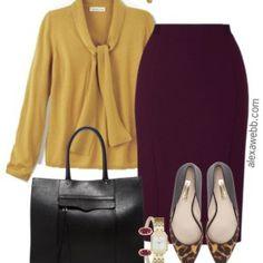 7005c5f4e94 Plus Size Fall Work Outfit - Plus Size Work Wear - alexawebb.com  alexawebb