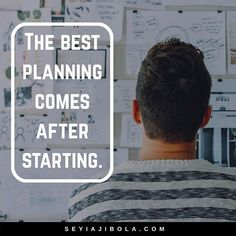 Everyone plans. Few execute. The ones who execute get the opportunity to make their plan better.   Doing is always going to be more fruitful than just planning. Tell yourself you are going to have a very minimal plan and then you will execute it. Once it's executed, you will revisit your plan and update it. This has always worked best for me. It will work best for you too.  Plan fast. Execute faster. Win!    @sheyiajibolah: You plan better only when you get feedbacks. #entrepreneur…