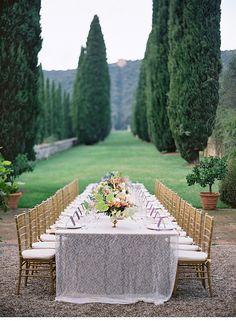 Toscana Wedding Inspirations, design by FlowerWild, photo by Jose Villa