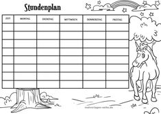 Timetable Template, School Timetable, Fairy Art, Free Coloring Pages, Special Education, Planer, Diy And Crafts, Printables, Student