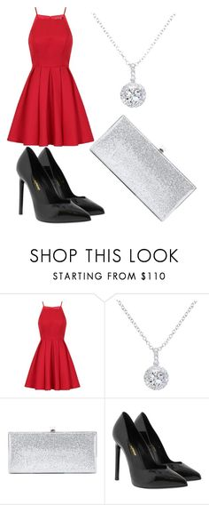 """""""Untitled #84"""" by fangirling0ver-lae ❤ liked on Polyvore featuring Chi Chi, EWA, Jimmy Choo and Yves Saint Laurent"""