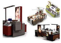 العرف تصميم التجزئة | الأكشاك، ومحلات فاخرة، RMU، وتحت عنوان، وطعام الشارع creationsgr.com Kiosk Design, Retail Design, Retail Merchandising, Retail Experience, Common Area, Luxury Shop, Street Food, Shops, Shopping