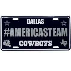 Dallas Cowboys License Plate - Hashtag