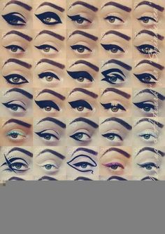 Mmmm cat eyeliner inspiration...