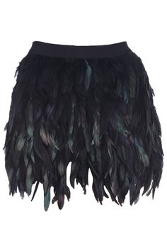 """""""Multi-layers Feather"""" Black Skirt  $51.50"""