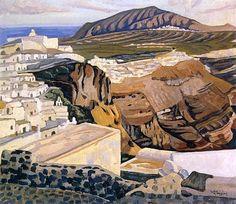 . Greek Paintings, Greek Art, 10 Picture, Conceptual Art, Greek Islands, Artist Art, Landscape Art, Greece, My Arts