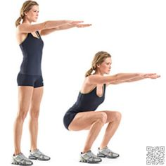I mentioned squats earlier as the classic butt exercise so I would be amiss not to list it as an easy way to tone your #butt! Squats are another easy move that you can do just about anywhere and don't require any equipment unless you want to add weights. Start with feet parallel and shoulder-width apart. Slowly lower your hips down, making sure not to let your knees go past your toes and return to the start position.