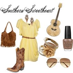 southern sweetheart, created by #meggyd10 on #polyvore. #fashion
