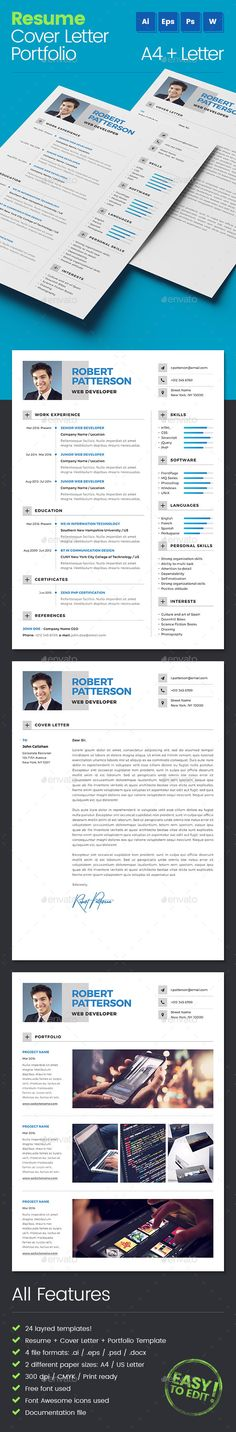 Resume Professional resume template, Professional resume and - resume paper size