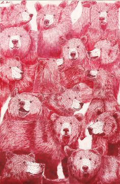 GRIZZLY BEARS R METAL (made with red ink and love)