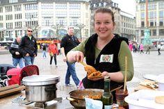 Lisa-Marie beim Foodsharing Flashmob
