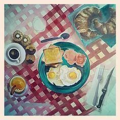 oilontable#englishbreakfast#paintproject#oliosutavola#colazioneall'inglese#85x85cm