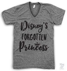Disney's Forgotten Princess V Neck #be-kind-to-animals #bye-felicia #bye-felicia-shirt
