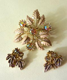 1950 Stunning  Sparkling Rainbow Crystals set Demi by RAKcreations