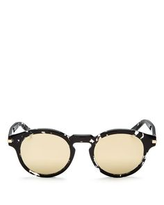 Marc Jacobs Mirrored Round Sunglasses, 48mm