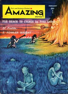 scificovers:  Amazing Stories February 1965. Cover by Paula McLane.