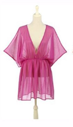 e1c8d6da2d39a Beautiful Pink Pull on Cover up available at TheBlingThing.com Swimsuit  Cover Up Dress