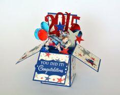 "Card in a box "" Graduation Day "", Graduation card for boys, Congratulation card…"